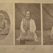 Father, Mother and Son with Hypertricosis, Iran, ca. 1870