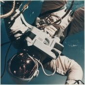 """Ed White's first Space Walk over Hawaii"""