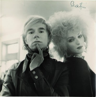 Andy Warhol and Candy Darling