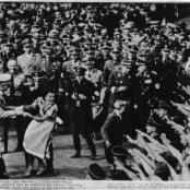 Adolf Hitler in a Dancing Mood in Bückeberg, Germany