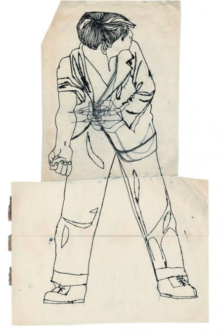 n.t. (Teen-Age Shooter or The Nation's Nightmare), c. 1952, Andy Warhol