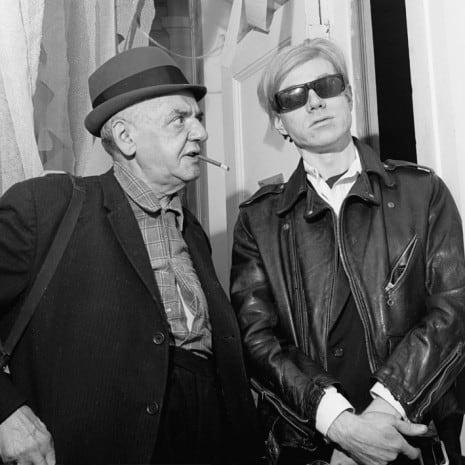 Weegee and Andy Warhol New York 1967